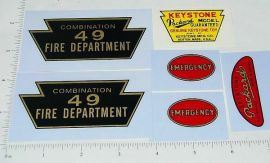 Keystone Packard #49 Fire Truck Sticker Set