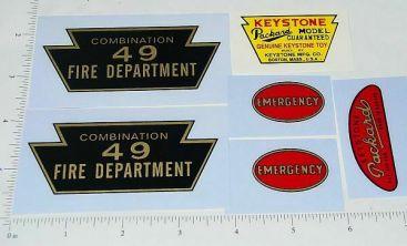 Keystone Packard #49 Fire Truck Sticker Set Main Image