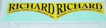 Richard Toys Ride On Door Stickers Main Image