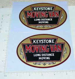 Keystone Moving Van Rear Box Stickers