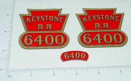 Keystone Ride On #6400 Locomotive Stickers