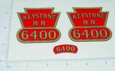 Keystone Ride On #6400 Locomotive Stickers Main Image