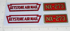 Keystone Ride On Airplane Replacement Stickers