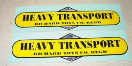 Vintage Richard Heavy Transport Trailer Stickers