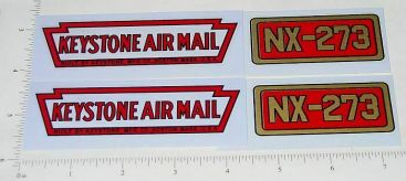 Keystone Ride On Airplane Replacement Stickers Main Image