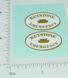 Keystone Emergency Wrecker Truck Sticker Set