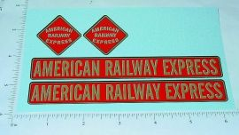 Keystone American Railway Express Stickers