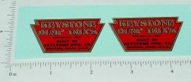 Keystone Pre-War Dump Truck Sticker Set