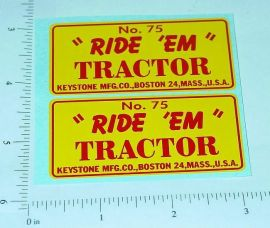 Keystone Ride Em Tractor Sticker Set