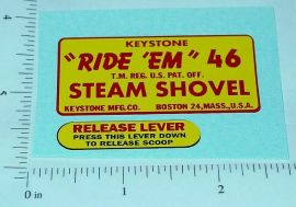 Keystone Ride Em Steam Shovel Stickers