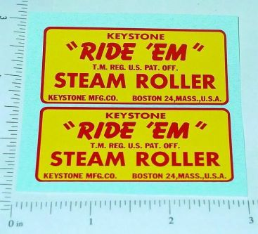 Keystone Ride Em Steam Roller Stickers Main Image
