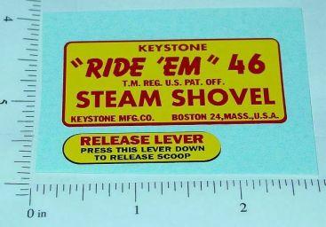 Keystone Ride Em Steam Shovel Stickers Main Image