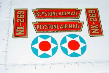 Keystone AirMil Tri-Motor Airplane Sticker Set Main Image