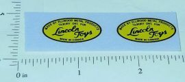 Lincoln Toys Oval Logo Style Sticker Set