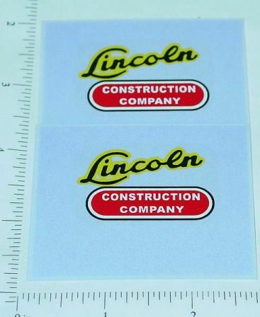 Lincoln Toys Construction Company Sticker Set Main Image
