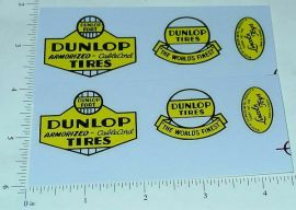 Lincoln Dunlop Tires Wrecker Truck Sticker Set