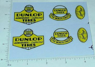 Lincoln Dunlop Tires Wrecker Truck Sticker Set Main Image