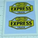 Lincoln Toys Express Truck Replacement Stickers Main Image