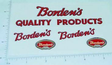 Lincoln Toys Bordens Milk Truck Sticker Set Main Image