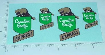 Lincoln CP Express Delivery Truck Sticker Set Main Image