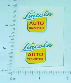 Lincoln Auto Transport Semi Truck Sticker Set