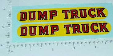 Lincoln Dump Truck Replacement Sticker Set Main Image