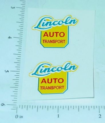 Lincoln Auto Transport Semi Truck Sticker Set Main Image