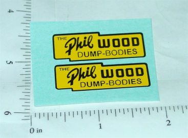 Lincoln Phil Wood Dump Bodies Stickers Main Image