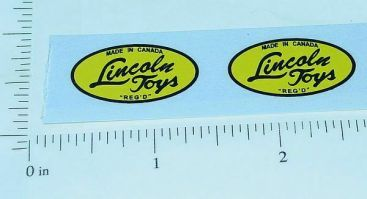 Lincoln Toys Oval Logo Sticker Set Main Image