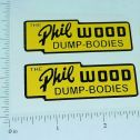 "Lincoln Toys Phil Wood Dump Boxes 2.5"" Stickers Main Image"