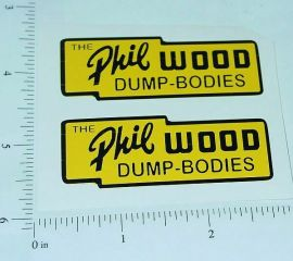 "Lincoln Toys Phil Wood Dump Boxes 2.5"" Stickers"