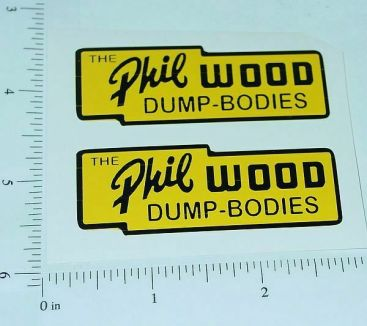 """Lincoln Toys Phil Wood Dump Boxes 2.5"""" Stickers Main Image"""