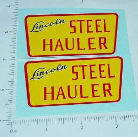 Lincoln Steel Hauler Semi Trailer Sticker Set