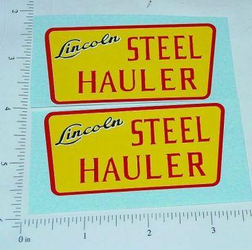 Lincoln Steel Hauler Semi Trailer Sticker Set Main Image