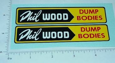 Lincoln Phil Wood Dump Truck Sticker Set Main Image