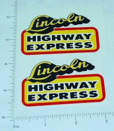 Lincoln Highway Express Truck  Sticker Set