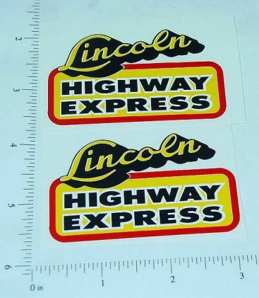 Lincoln Highway Express Truck Sticker Set Main Image
