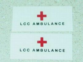 Matchbox Bedford Ambulance Replacement Stickers