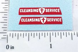 Matchbox Dennis Refuse Truck Replacement Stickers