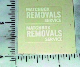 Matchbox Removals Van Replacement Stickers      1