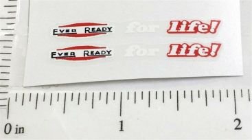 Matchbox ERF 686 Eveready For Life Truck Stickers Main Image