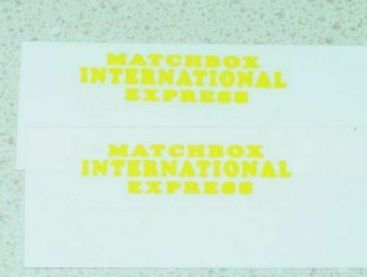 Matchbox 34A Volkswagon Microvan Stickers Main Image