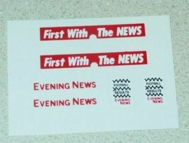 Matchbox Bedford Evening News Van Stickers