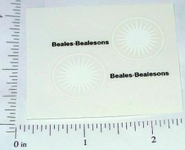 Matchbox #46B Beales Bealeson Van Stickers