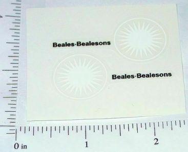 Matchbox #46B Beales Bealeson Van Stickers Main Image