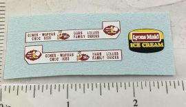 Matchbox 47B Commer Ice Cream Canteen Stickers