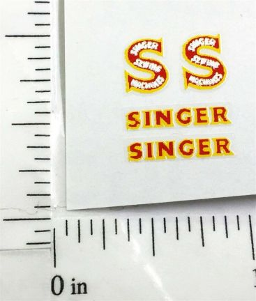 Matchbox 59AThames Singer Van Sticker Set Main Image