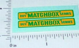 Matchbox 5B London Bus Replacement Stickers