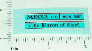 Matchbox #5C Baron of Beef London Bus Stickers Main Image