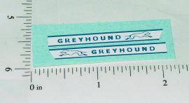 Matchbox Greyhound Bus Replacement Stickers